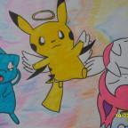 Pikachu und Eneco im Himmel, Mew hat Spaß