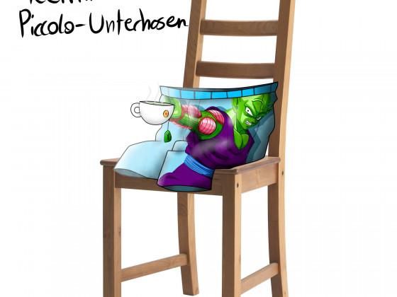 Tee trinkende Piccolo-Unterhosen
