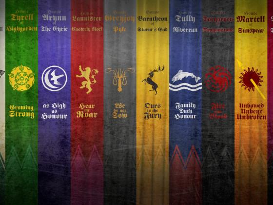 Game of Thrones - Wallpaper Häuser 1