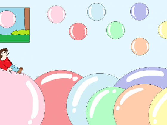 Spaß auf Farbenfrohen Kaugummiblasen