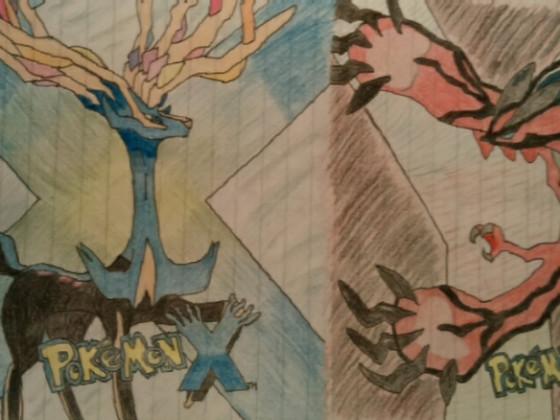 Xerneas & Yveltal (Cover Pokemon X/Y)