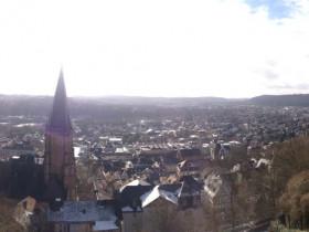 Marburg vom Landgrafenschloss aus