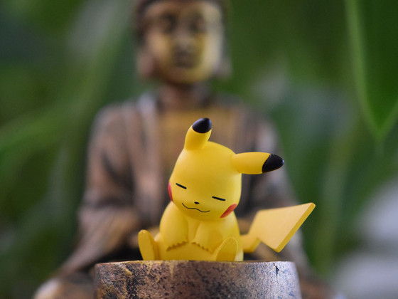 17-003 Pikachu in deep meditation