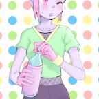 Flambee mit einer Flasche