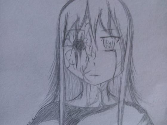 Mädchen als Horrorfigur