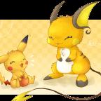 Pikachu und Raichu
