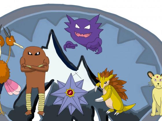 Gebirges Pokémon Blau Nuzlocke Team