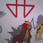 Entei mit Sign