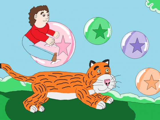 Luftballonkunststücke mit dem Lieben Tiger