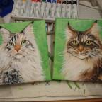 Meine Katzen auf Leinwand