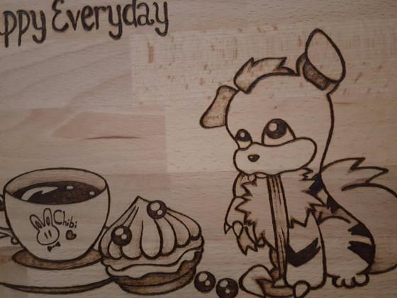 Frühstücksbrettchen Fukano- Happy Everyday