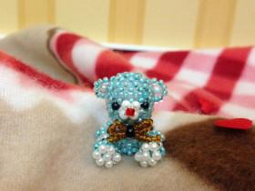 Blauer Teddybär [Perlentier]