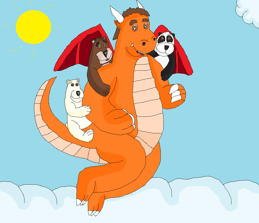 Feuragon und seine drei Bärenfreunde