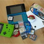 Meine kleine Sammlung an Nintendokonsolen und -spielen. :D
