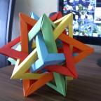 Five Intersecting Tetrahedra :O