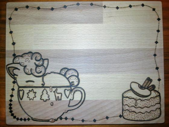 Frühstücksbrettchen Alola Vulpix in Tasse