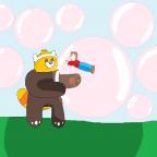 Großes Bärchen, Große Kaugummiblasen