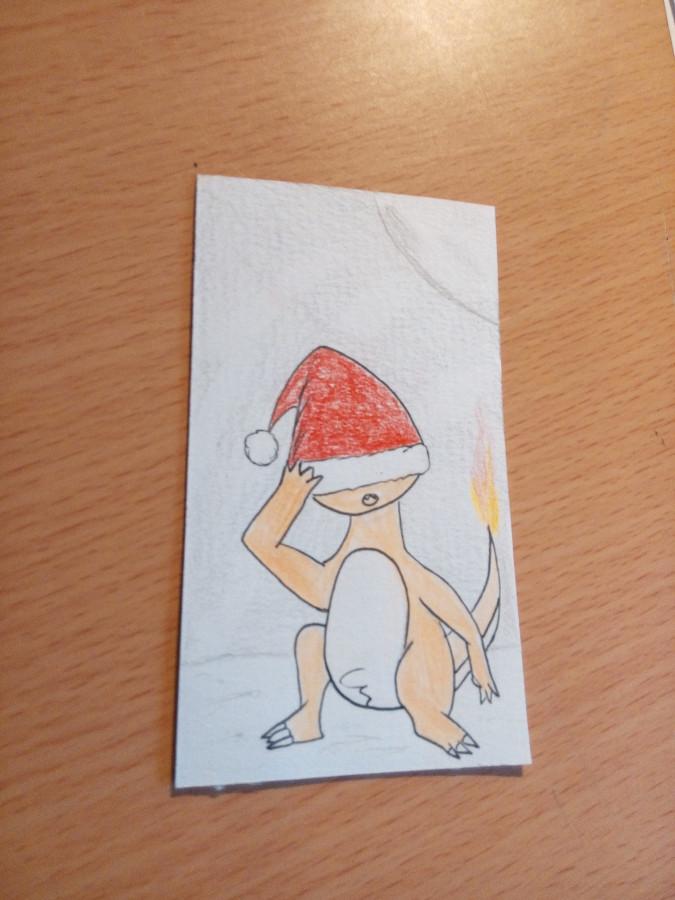 Glumanda mit Weihnachtsmütze