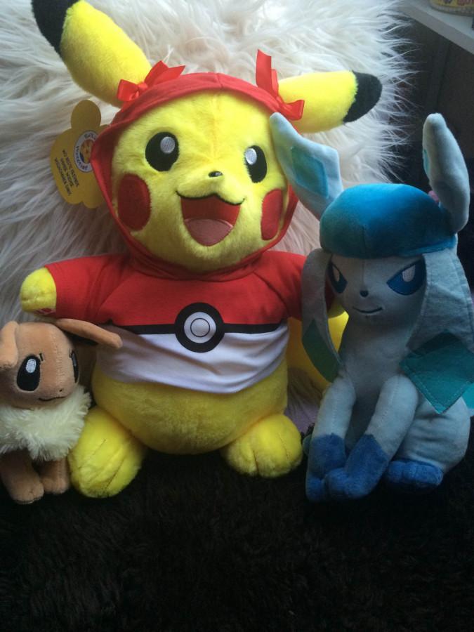 Build-a-bear Pikachu, Evoli & Glaziola