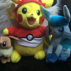 Build-a-bear Pikachu, Evoli & Glaziola