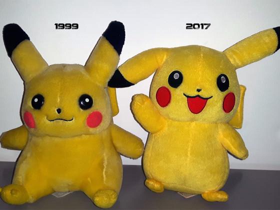 Pikachu damals und heute