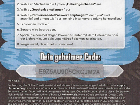 Code Zeraora