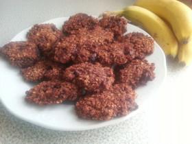 Schoko-Bananen-Hafer-Cookies