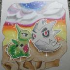 Shiny Larvirar & Pupitar