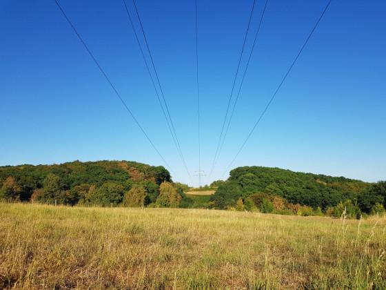 Landschaftsfoto ohne Grünzeug vor Linse