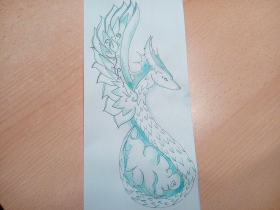 Aquarelldrache