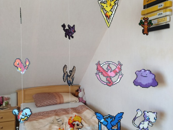 Raumteiler aus Bügelperlen