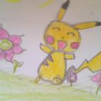 Pikachu und die Blumen