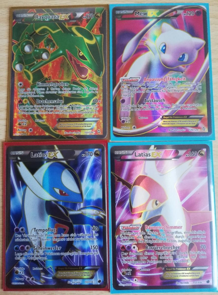 wieder ein kleiner Neuzugang: die 4 schönsten EX Fullarts aus den BW Sets <3 <3