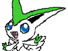 Retyp Victini Shiny Pflanze (3DS)