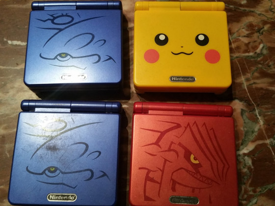 Gameboy Advance SP Spezialeditionen