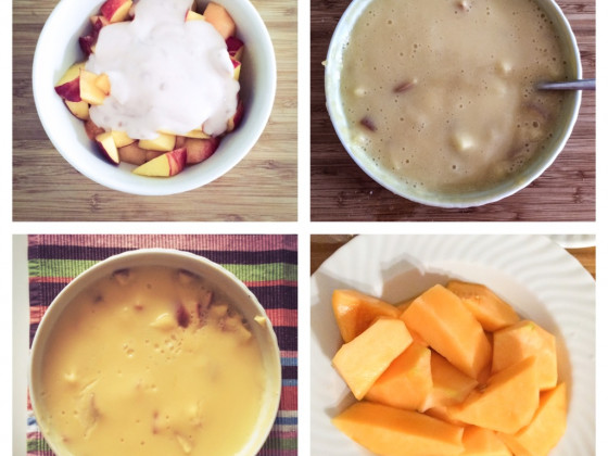 Pudding und Frucht