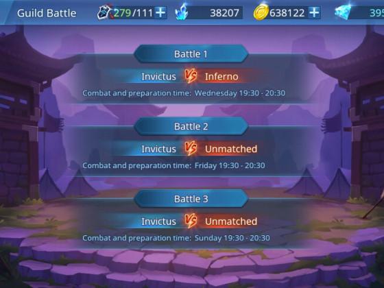 Oh no! My Guild must fight against an friends Guild!  Oje, meine Gilde muss die gegen eines Freundes Gilde kämpfen...