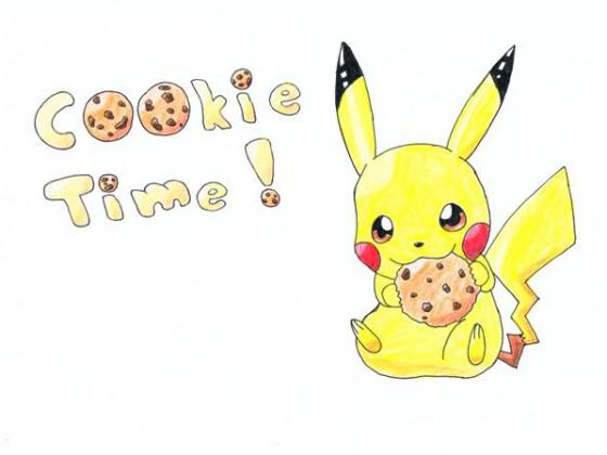 Pikachu mit Keks