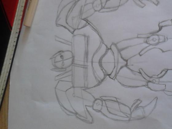 Optimus Prime, Teil 1: Skelett und grobe Skizze
