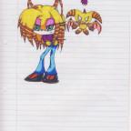 Igelin Punk mit ihren Charakter Chao