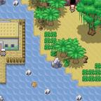 Strand mit Haus und Höhle