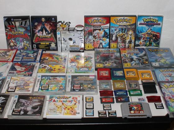 """Pokemon Spiele/Filme - """"10 Jahre Sammlung"""" ^^"""