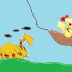 Pikachu träumt