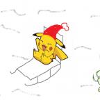 Winter mit Pikachu