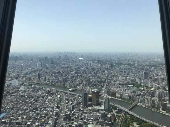 Ausblick vom Tokyo Skytree 2018