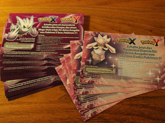 Codes for Trade! - Diancie und Shiny Gengar