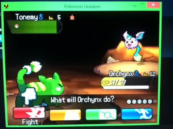 Shiny Tonemy in Pokémon Uranium