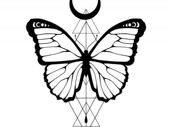 Schmetterling Tattoo Design
