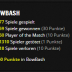 Meine Minecraft Bowbash Statistiken