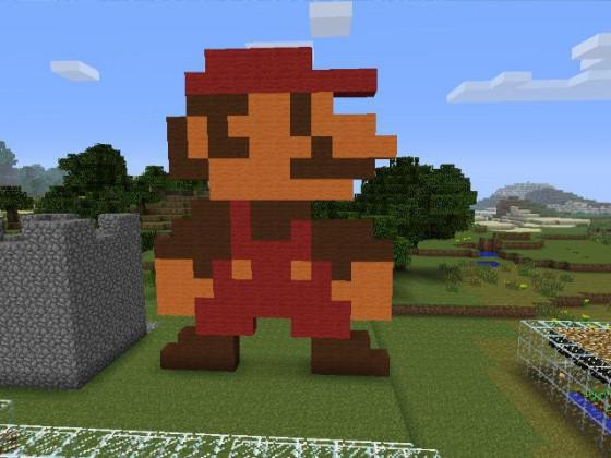 Mario 8-Bit Pixel Art